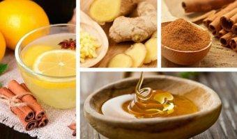Bebida para la pérdida de peso: canela, miel, limón y jengibre.