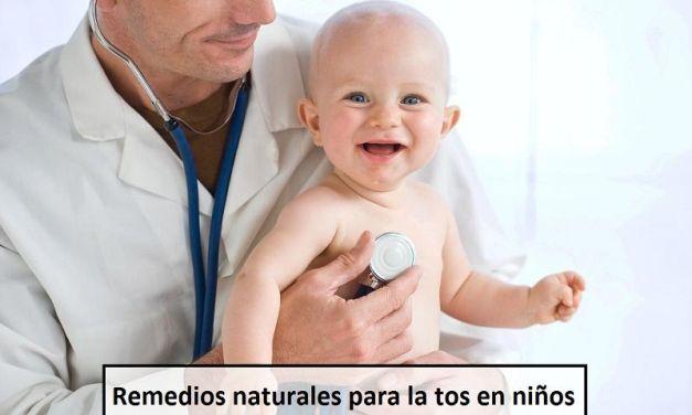 Remedios naturales para la tos en niños