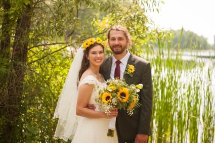 Shyanne and Paul Fox on their wedding day.