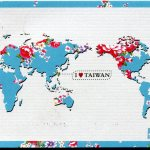 Map Of The World I Heart Taiwan Remembering Letters And Postcards