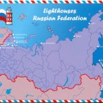 Map Of The Lighthouses Of The Russian Federation Remembering Letters And Postcards