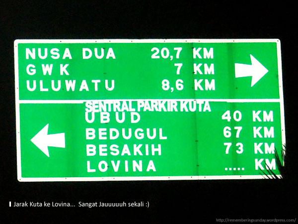 Kuta To Lovina ..... Km