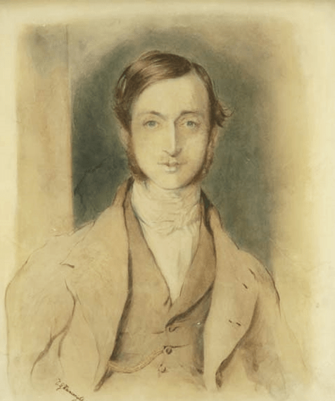 Portrait of a Young Man (Self-portrait), pencil and watercolour on paper, 41 x 33 cm, Thomas Wainewright (1794-1847)