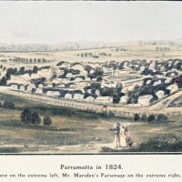 Two Historic Pictures of Parramatta NSW in 1824 and 1911 - in Original and Colour