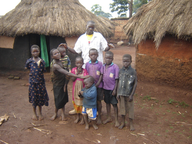 Charles with his orphaned neices and nephews