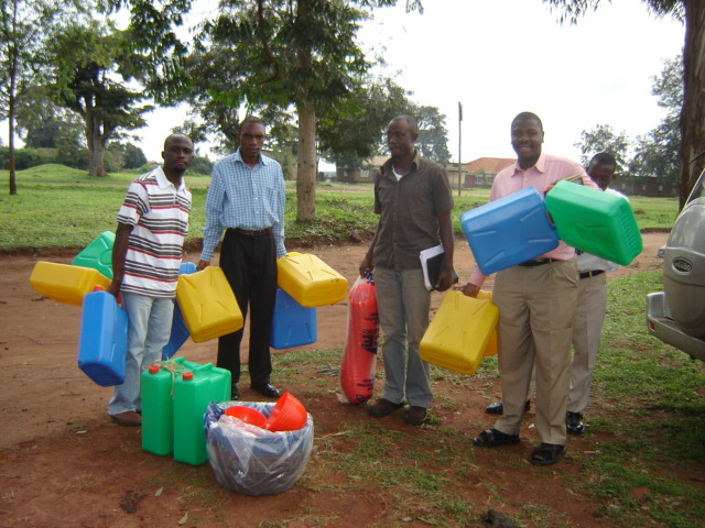 Prison Evangelism-includes distribution of jerry cans for collecting water!