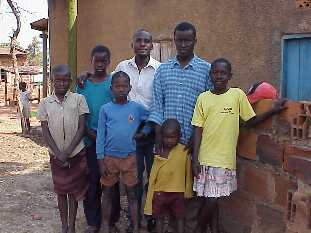Martin in 2005- tallest young man in blue shirt