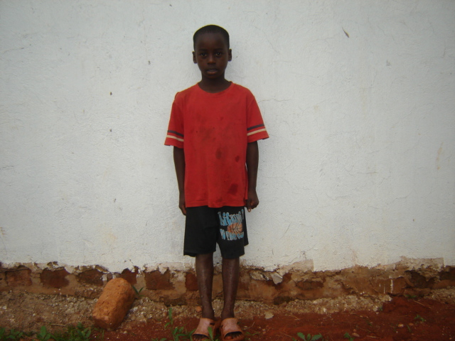 Tony Mayinja is Lydia Nambi's brother.  His father abandoned them, and his mother and he and Lydia have been on the food program at Nkumba church.