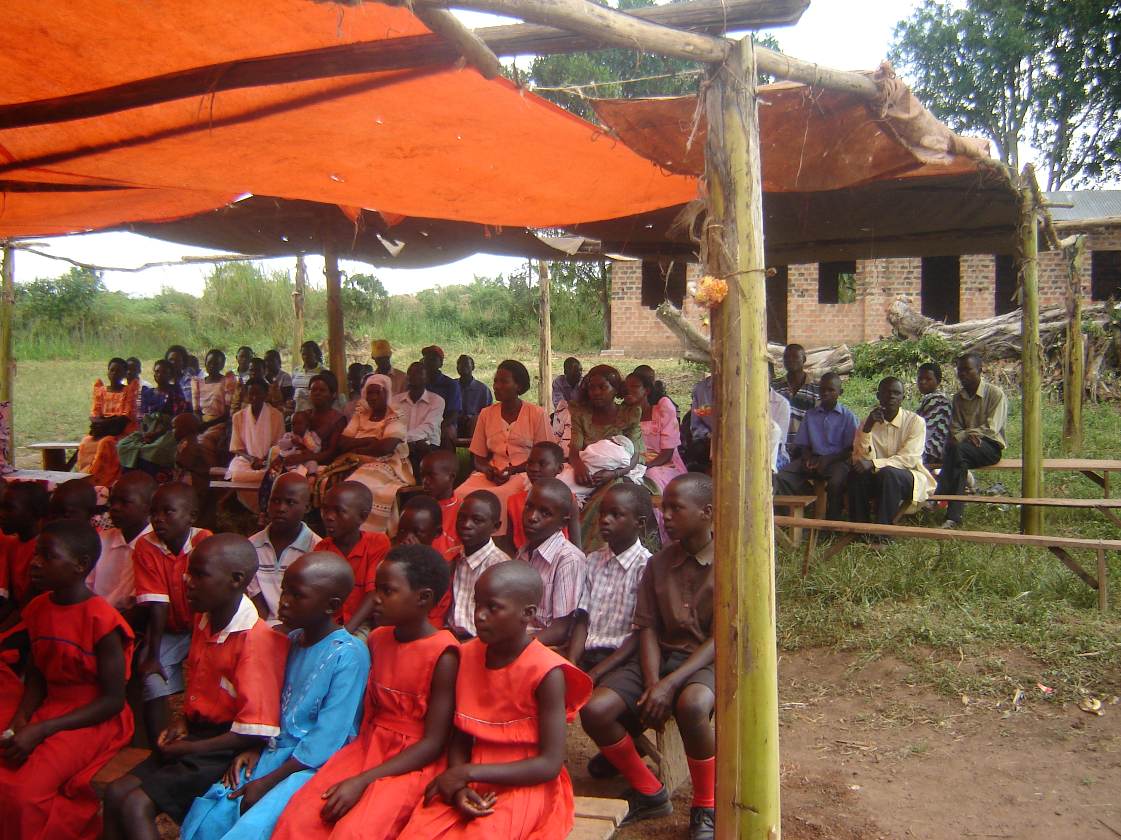 I bless the Lord for the opportunity to talk to large numbers of people and to encourage them to grow enough food for the kids.  This is a very remote school. ~Brother John