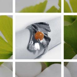 Ginkgo biloba gyöngyös gyűrű