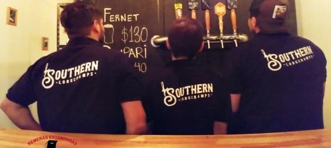 Chombas estampadas Cervecería Southern