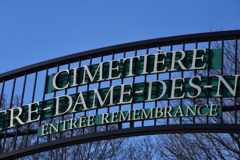 Cimetière Notre-Dame-des-Neiges, hiver 2017.