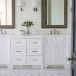 Marble Master Bathroom Wood Lattice Inlay Remington Avenue