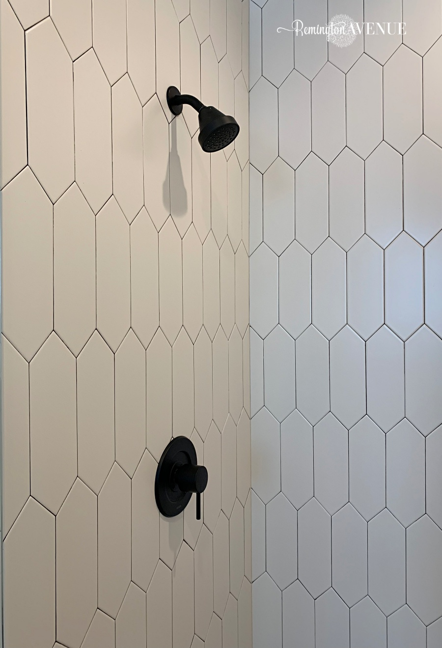 black white oak bathroom reveal