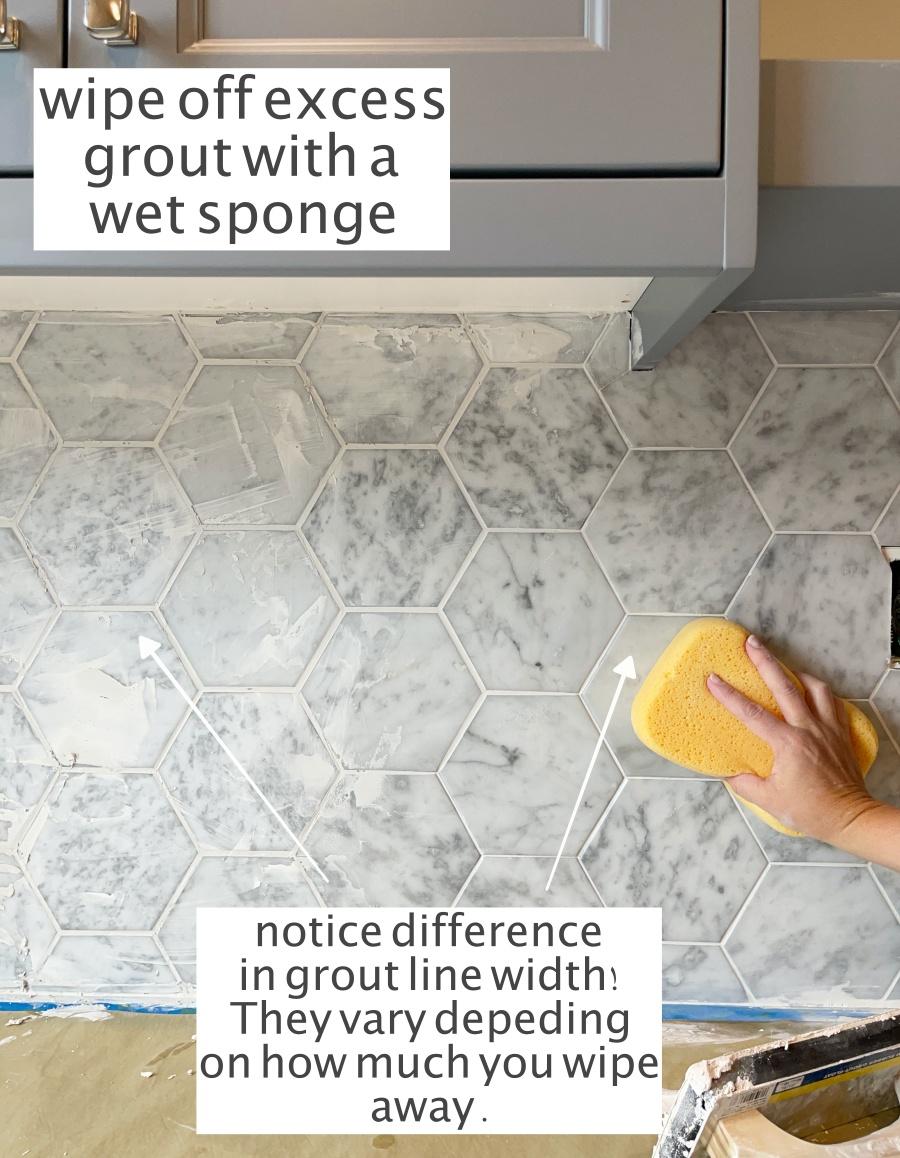 peel stick marble tile backsplash
