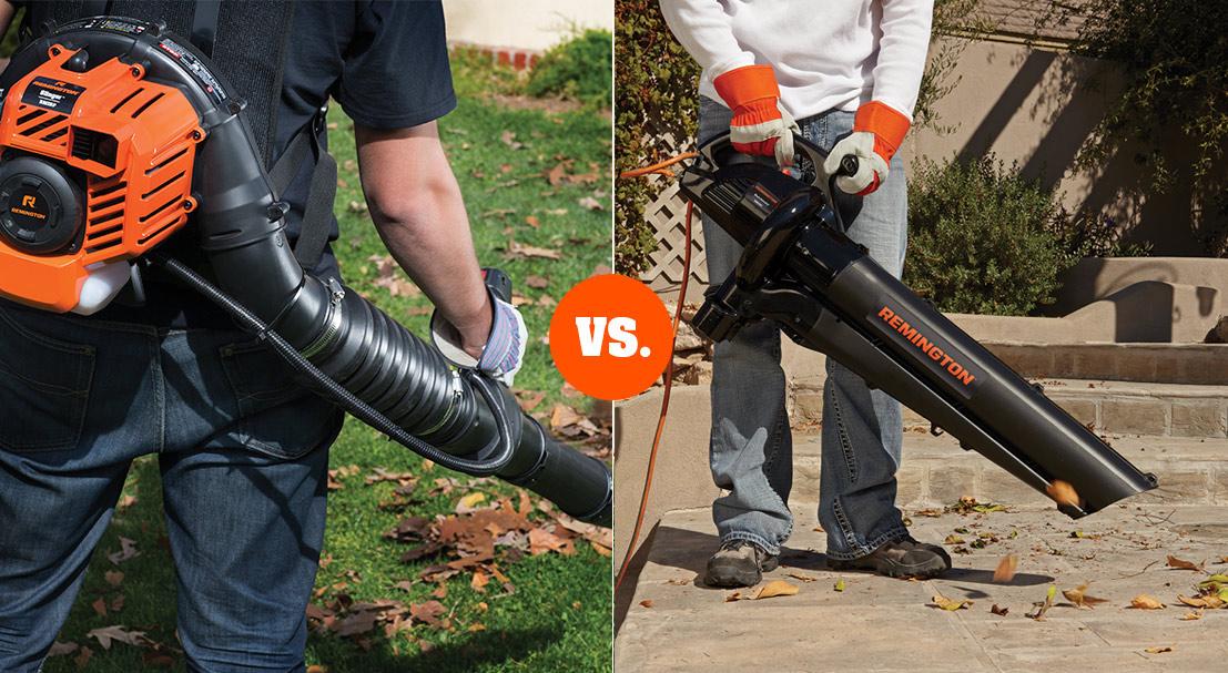 leaf blower gas vs electric
