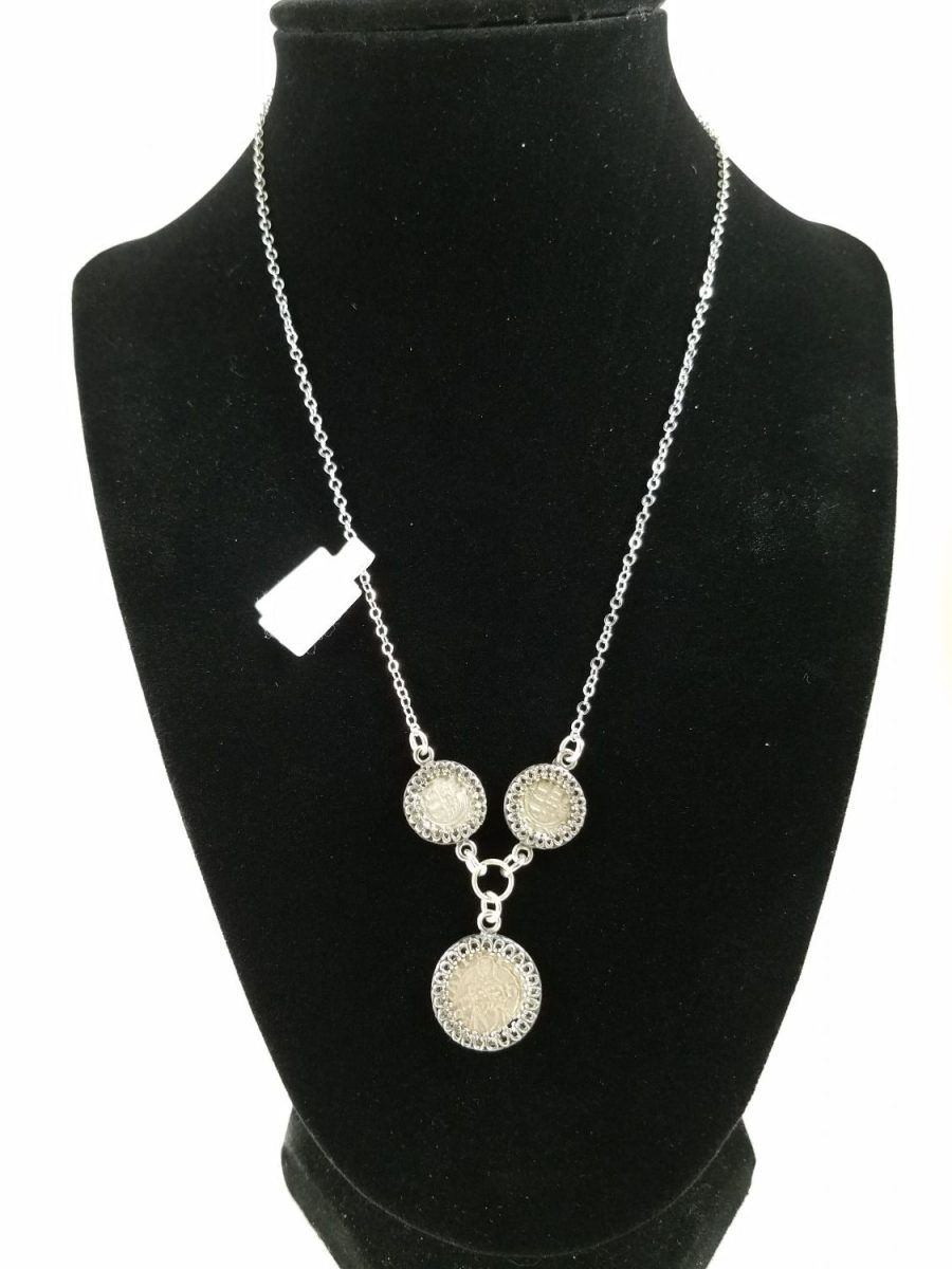 Necklace with coins from the HOly Roman Empire featuring Virgin Mary