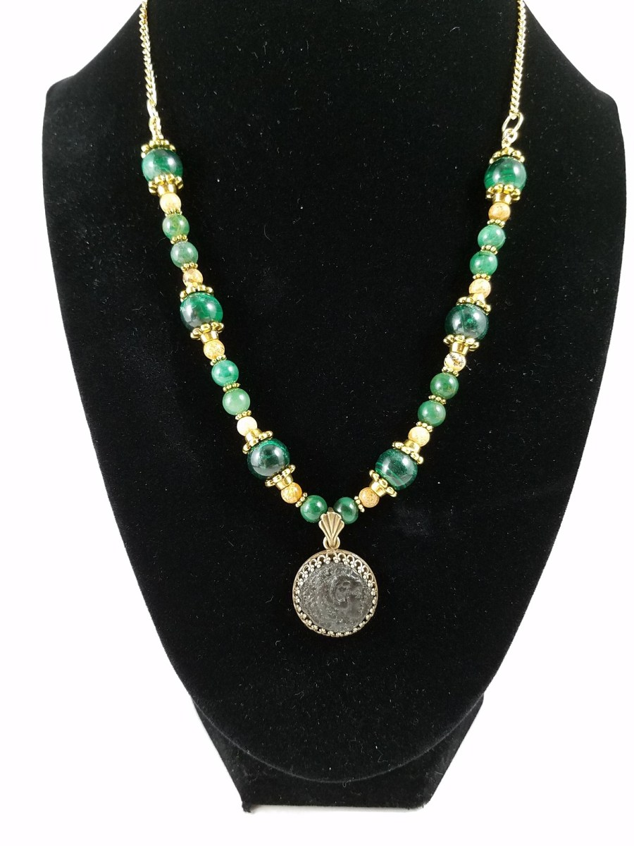 Necklace featuring coin from Alexander the Great