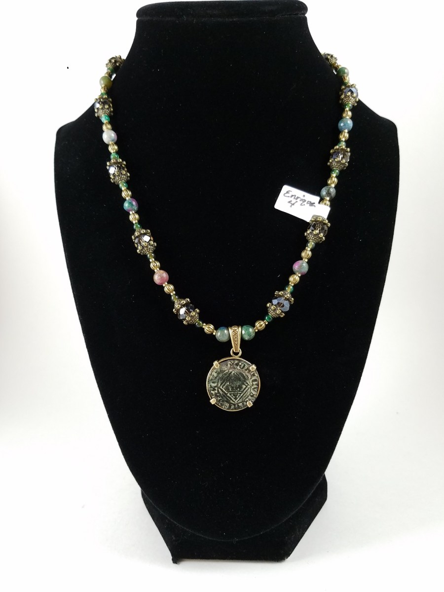 necklace with 15th century spanish coin