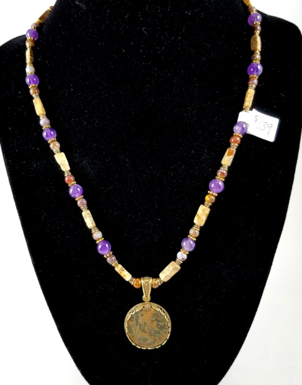 Tiberius coin necklace