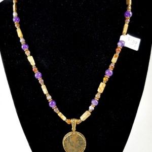 Tiberius coin necklace