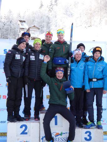 Podium equipes combiné Vosges 1er