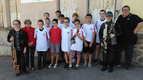jeunes sélectionnés de l'EDT avec les coatchs