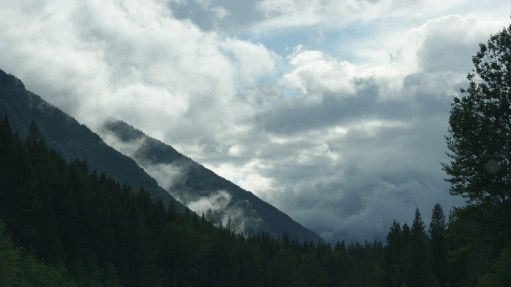Montana: the clouds in front of the silhouette of the mountain - so beautiful.