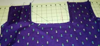 bias tape sewn down - finished edges