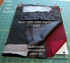 layering prep for sewing