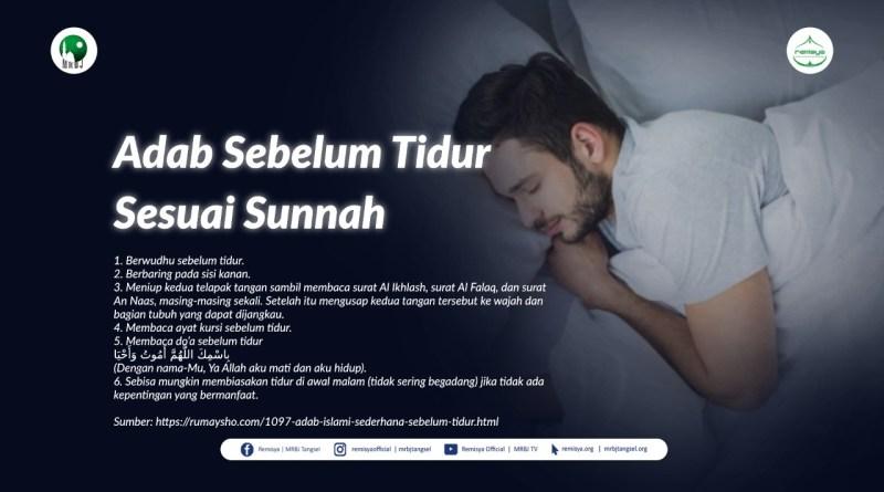 Adab Sebelum Tidur Sesuai Sunnah Nabi Muhammad Saw