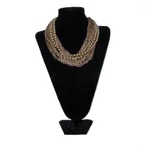 carolee gold multistrand necklace-the remix vintage fashion