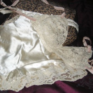flapper bra and pant set art deco lingerie-the remix vintage fashion