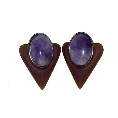 80s clip earrings-the remix vintage fashion