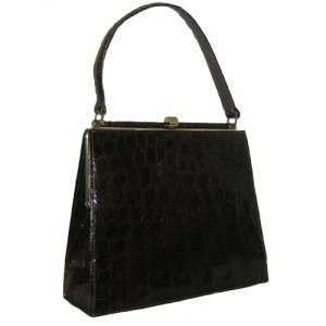 bellestone alligator bag brown kelly-the remix vintage fashion