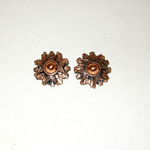 renoir copper clip earrings geometric modernist style-the remix vintage fashion
