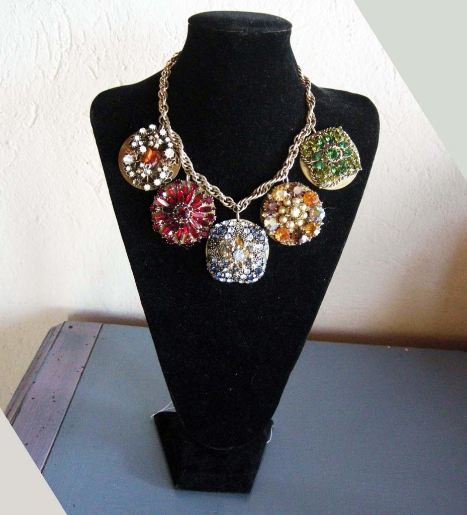 Necklace of Weiss Brooches by Anastasia McNeal