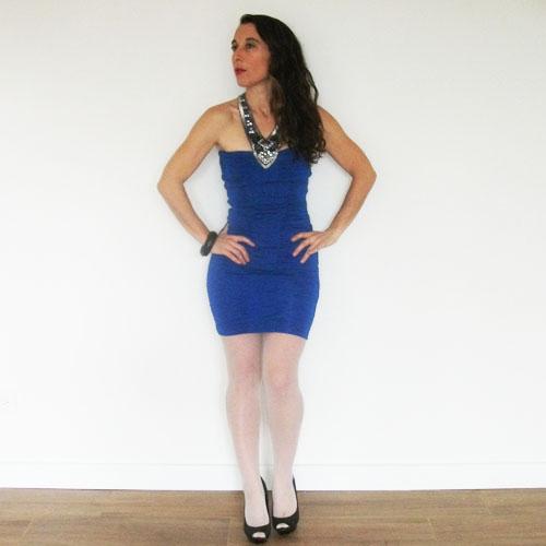 bebe tube dress -the remix vintage fashion