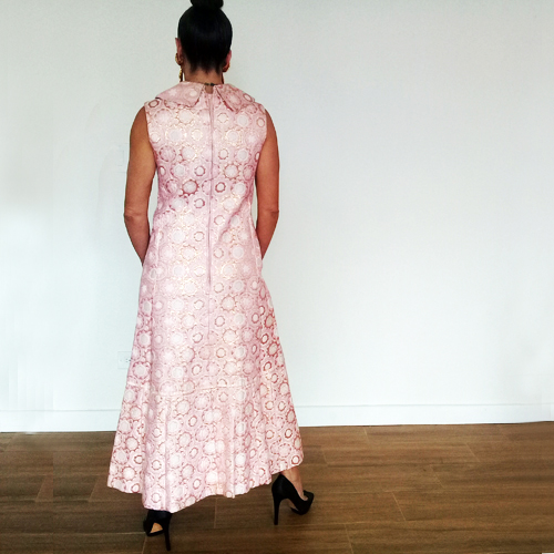 60s brocade dress gown suit smart miss-the remix vintage fashion