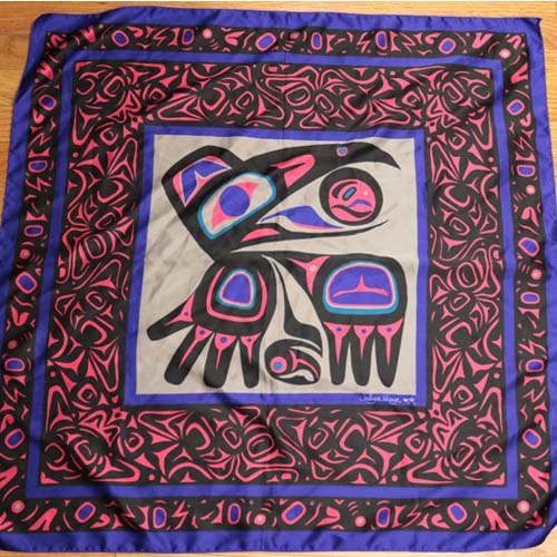 jocelyue mauge silk scarf raven-the remix vintage fashion