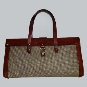 john romain handbag leather tweed 60s 70s designer purse-the remix vintage fashion