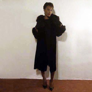 velvet opera coat fox trim-the remix vintage fashion