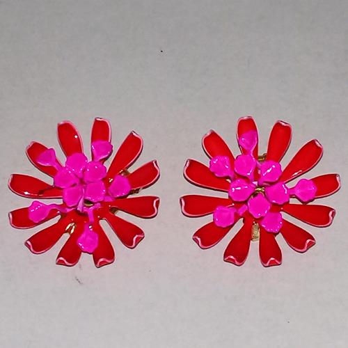 daisy mod flower earrings flower power hippy jewelry-the remix vintage fashion
