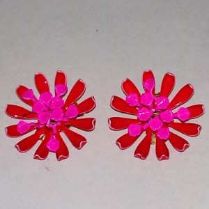 daisy mod flower earrings flower power hippy jewelry-the remix vintage fashion