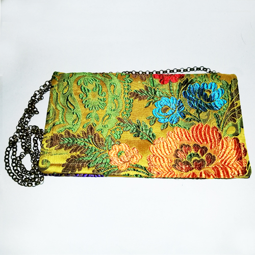 gold brocade clutch chain shoulder bag-the remix vintage fashion