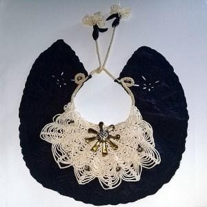 bib collar crochet rhinestones-the remix vintage fashion