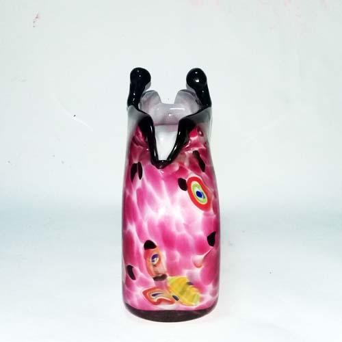 murano art glass purse vase pink-the remix vintage fashion