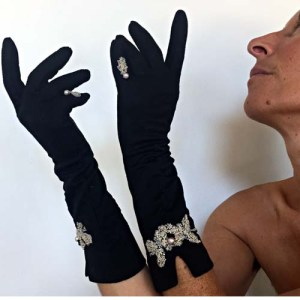 vintage ladies day gloves black revamp-the remix vintage fashion