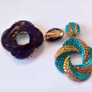 80s Glitz earring hoop Richard Kerr-the remix vintage fashion