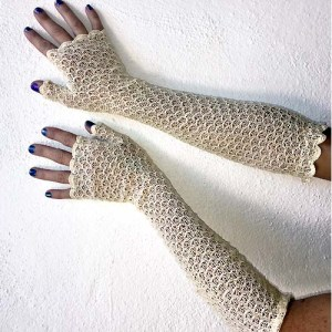 fingerless crochet gloves art deco-the remix vintage fashion
